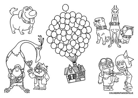 Up Coloring Pages up coloring pages