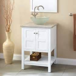 24 quot everett vessel sink vanity white bathroom