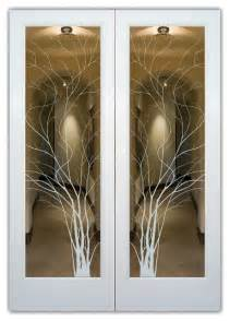 interior glass design interior glass doors frosted glass wispy tree rustic