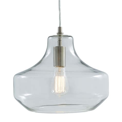 nickel pendant lighting kitchen shop allen roth 12 01 in brushed nickel art deco single