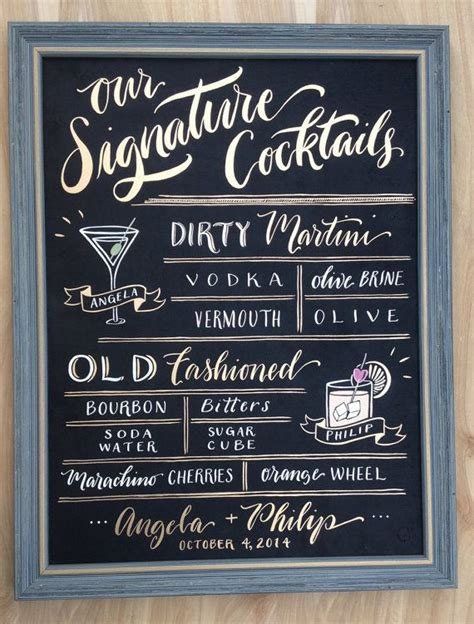 1000 ideas about signature drink signs on pinterest