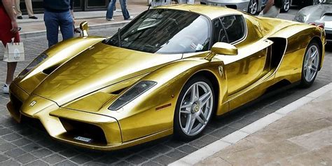 Car & Bike Fanatics: Gold plated Ferrari Enzo