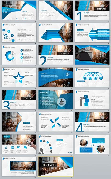23 Blue Business Plan Powerpoint Template The Highest Quality Powerpoint Templates And Blue Strategy Template Ppt