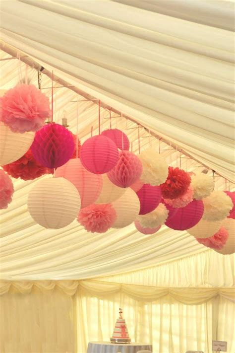 Pom Poms To Hang From Ceiling by In Blue And Yellow Theroux Wedding 9 17 16