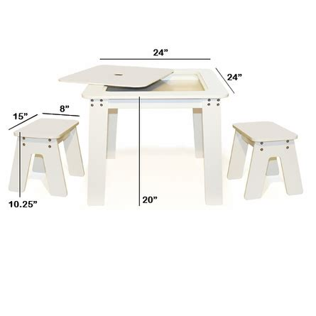 p kolino chalk table and benches chalk table bench set white by p kolino