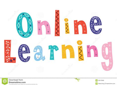 design online learning online learning stock vector image 53513968