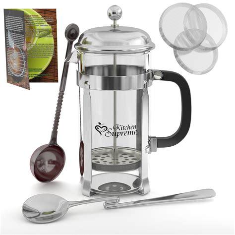 Kitchen Supreme Press New Press Coffee And Tea Maker Complete Bundle 8