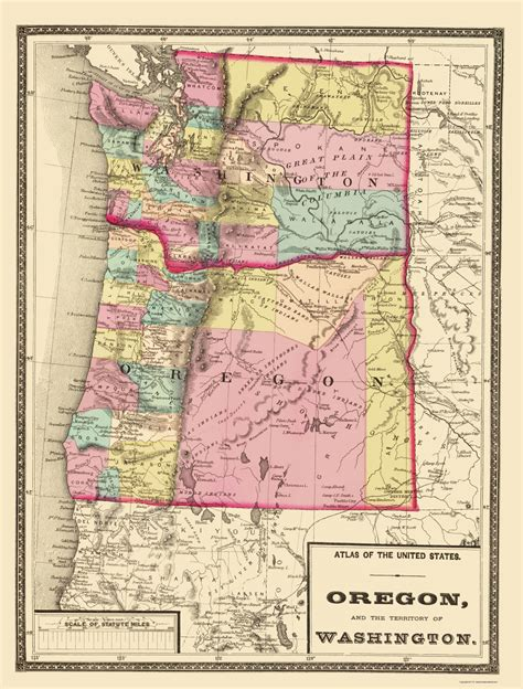 a map of oregon and washington state maps oregon and washington or wa by