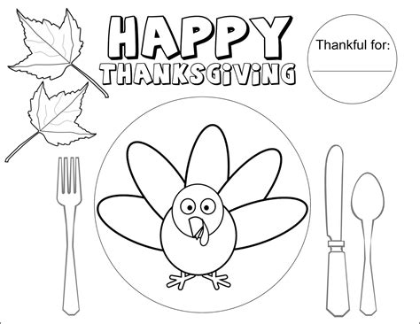 Placemat Coloring Page the sugar bee bungalow bee thanksgiving