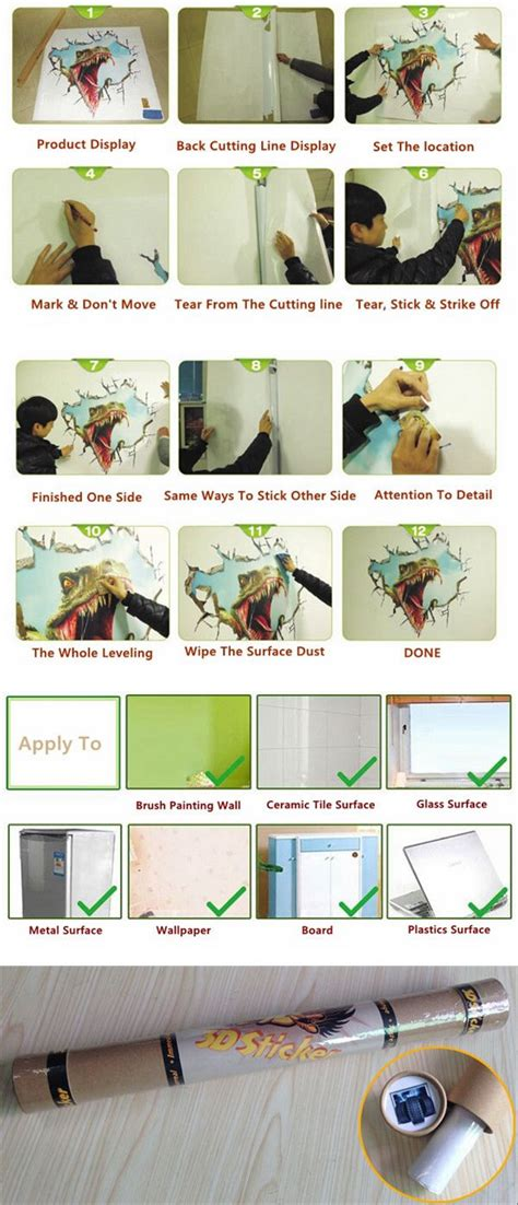 Wall Sticker Removable 3d Horror Ghost Series 4 3d ceiling wall decals removable bamboo grove wall