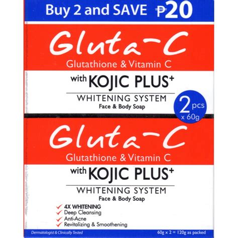Gluta White Palsu gluta c with kojic plus whitening system and soap edna