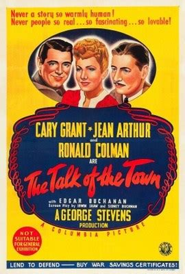 Talk Of The Town the talk of the town 1942 starring cary grant jean