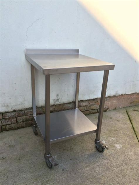 stainless steel work bench table heavy duty commercial stainless steel table work bench ebay