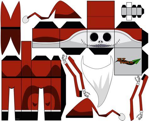 Skellington Papercraft - santa nightmare before by jetpaper on