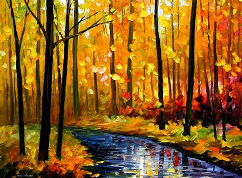 fall by leonid afremov by leonidafremov on deviantart