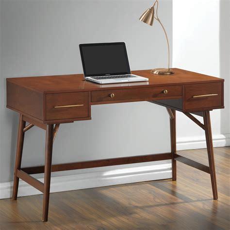 coaster 800744 mid century modern writing desk with 3