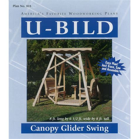 swing for free shop u bild canopy glider swing woodworking plan at lowes com