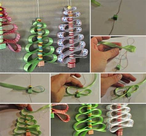 creative ideas diy adorable ribbon and beads christmas tree
