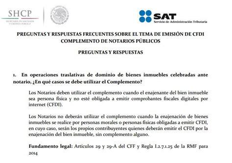 preguntas frecuentes sat complemento de pago cfdi y los notarios en que caso aplica el complemento