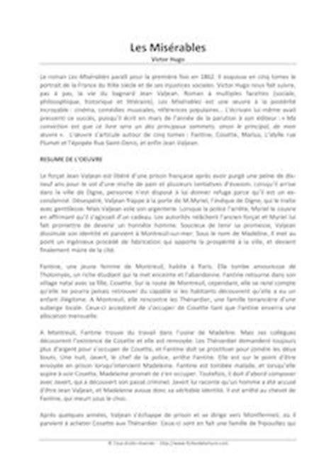 Les Misérables - Jean Hugo - Fiches de lecture