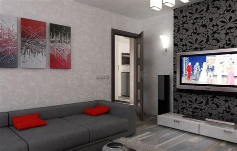 wohnzimmergestaltung 3d bilder 3d interieur wohnzimmer rot grau 5