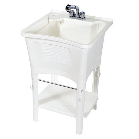 bathtub laundry zenith white polypropylene utility tub lowe s canada