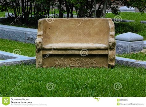 stone benches for cemetery stone bench royalty free stock photo image 35148025