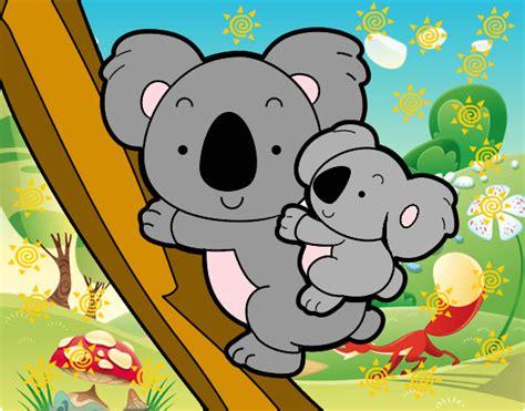 dibujos infantiles koala dibujo de madre koala pintado por ponysalvag en dibujos