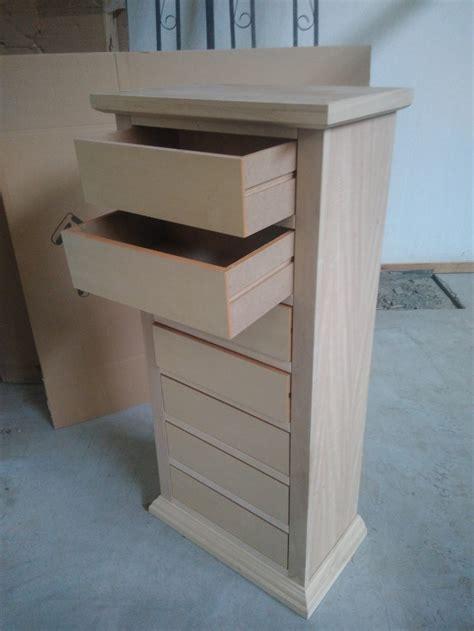 cassetti legno grezzo cassettiera 242 con 7 cassetti legno grezzo