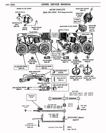 athearn parts diagrams lionel 2046 2056 repair manual pages 5 pages