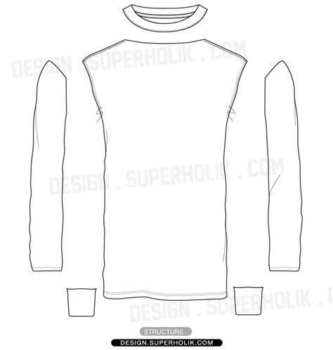 long sleeve shirt vector template set hellovector