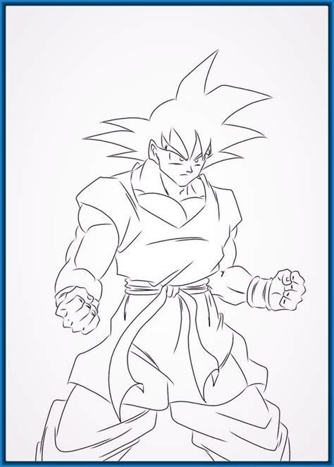 imagenes para dibujar de goku dibujos son goku para colorear cool dibujos de goku para