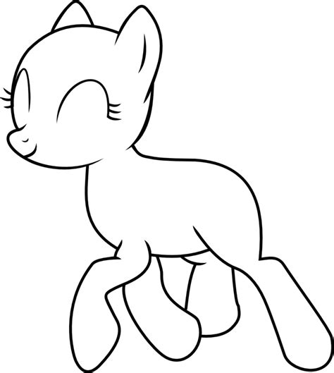 my little pony coloring pages bases trotting pony base vector by fabulousmoustache on deviantart