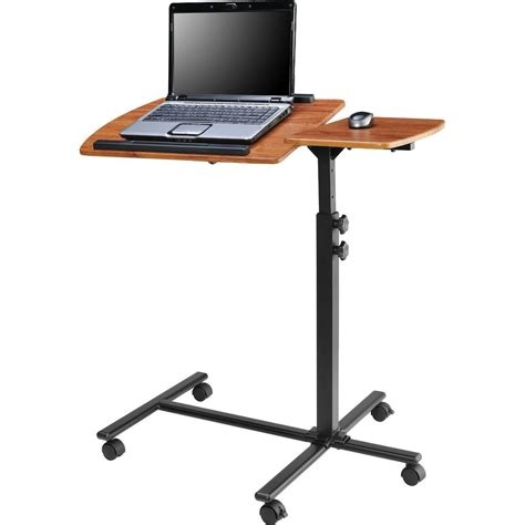 stand up computer desk on wheels adjustable height laptop computer standing desk cart with