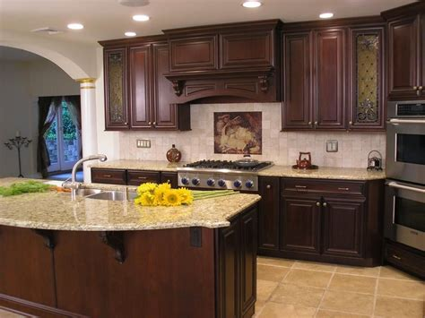 cherry cabinets with light granite countertops cherry cupboards with light granite countertops home