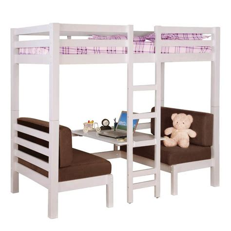 twin over twin convertible loft bunk bed coaster twin over twin convertible loft bunk bed in white