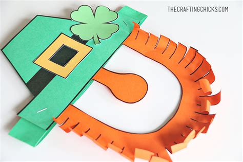 leprechaun mask template leprechaun mask printable the crafting