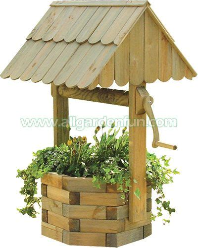 Landscape Timber Wishing Well Plans Wishing Well Made From Landscape Timbers Tuin Wishing