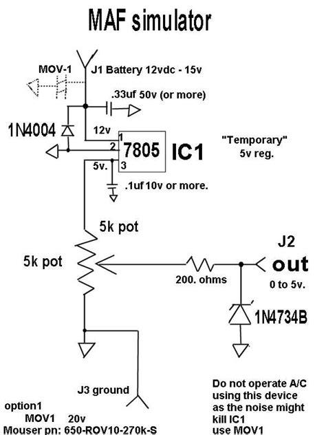 bosch maf sensor wiring diagram mass air flow sensor