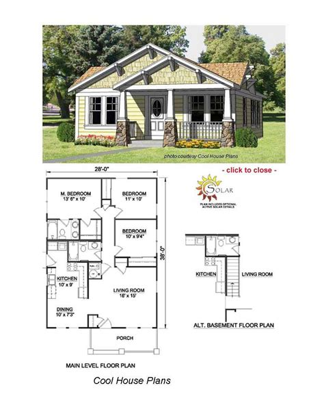 Arts And Crafts Home Plans by Bungalow Floor Plans Basement Bungalow