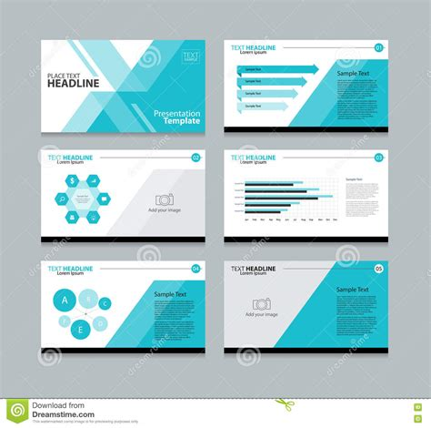 layout of presentation page presentation layout design template stock vector