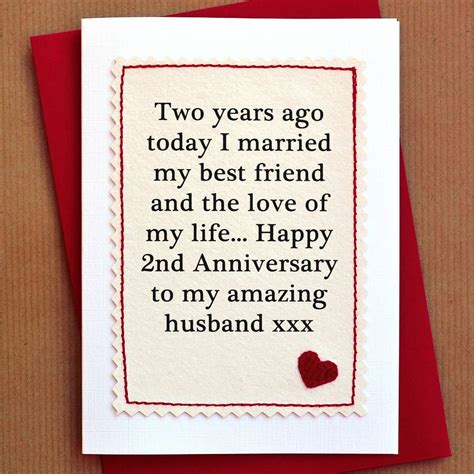 Handmade Anniversary Cards For Husband - handmade second anniversary card by arnott cards