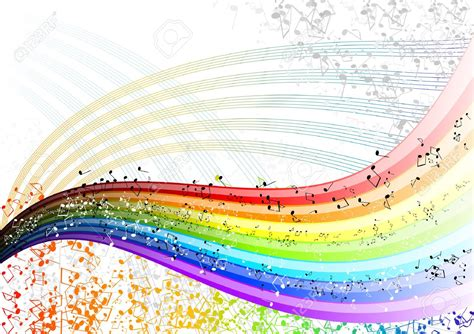 Optical Illusions Wallpaper pin music rainbow with notes stock vector 19239460