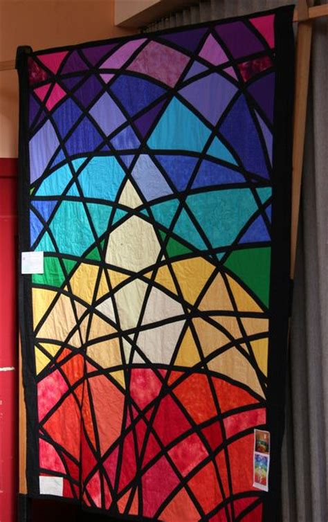 Stained Glass Patchwork Patterns - stained glass window quilt made by my quilt