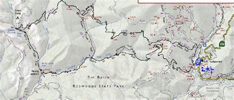 big basin trail map 산행 안내 2 13 2016 토 부정기 big basin redwoods state park