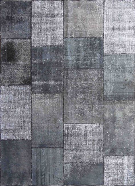 Overdyed Patchwork Rug - rugsville vintage turkish dyed patchwork after