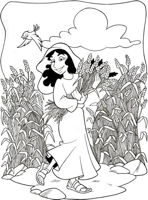 coloring page for ruth and naomi coloring pages for children on the story of ruth and naomi