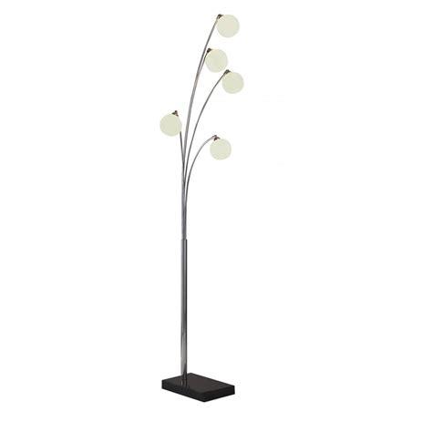 Floor Standing Lights highgate hig4950 5 light floor standing l with glass shades