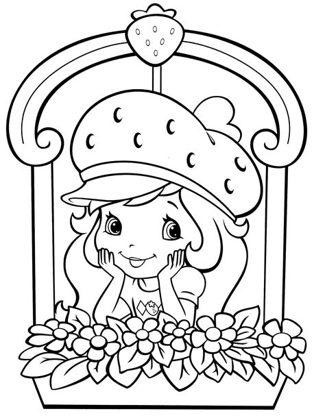 coloring book pages strawberry shortcake 66 coloringcolor