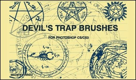 devil s trap tattoo 70 amazing brush sets add tattoos to your designs